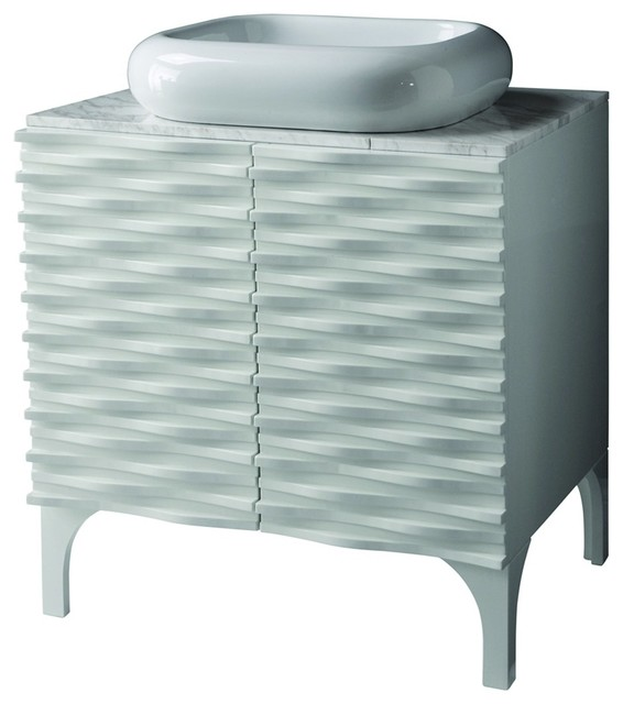 Decolav 5243 whg sophia vanity with marble top and above for Bathroom remodel 73012