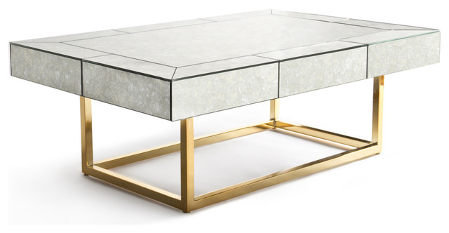 Jonathan Adler Delphine Mirrored Cocktail Table Transitional Coffee Tables By The Modern Shop