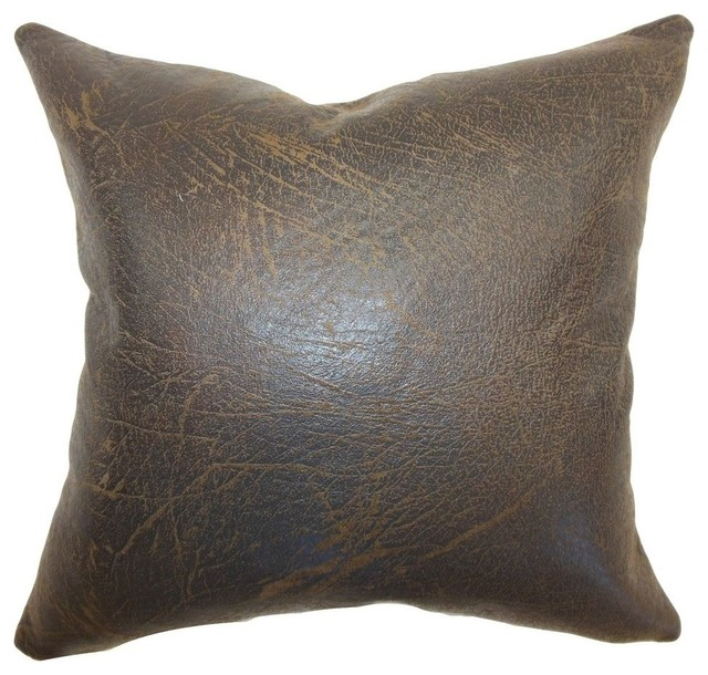 Jazzy Plain Pillow, Chocolate, 20