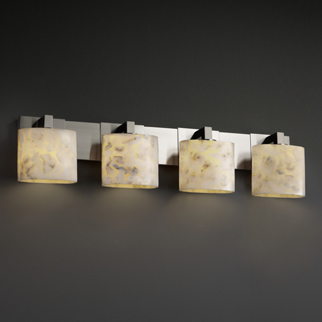 Justice Vanity Lights : Justice Design Group Alabaster Rocks! Modular 4-light Bath Bar - Contemporary - Bathroom Vanity ...