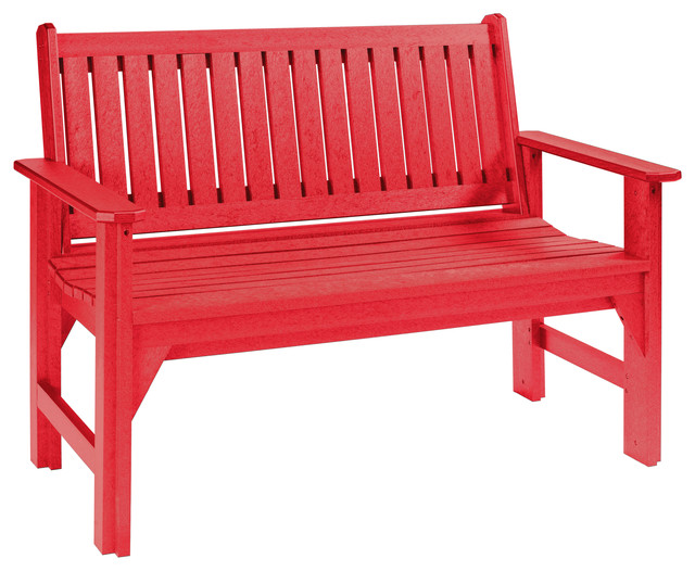 Generations Garden Bench Red Traditional Outdoor