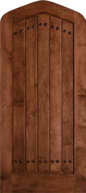 Jeld Wen 1301 Clear Alder Tudor Door Cherry Finish Gothic