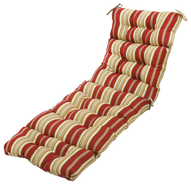 72 inch outdoor roma stripe chaise lounger cushion for Black and white striped chaise lounge cushions