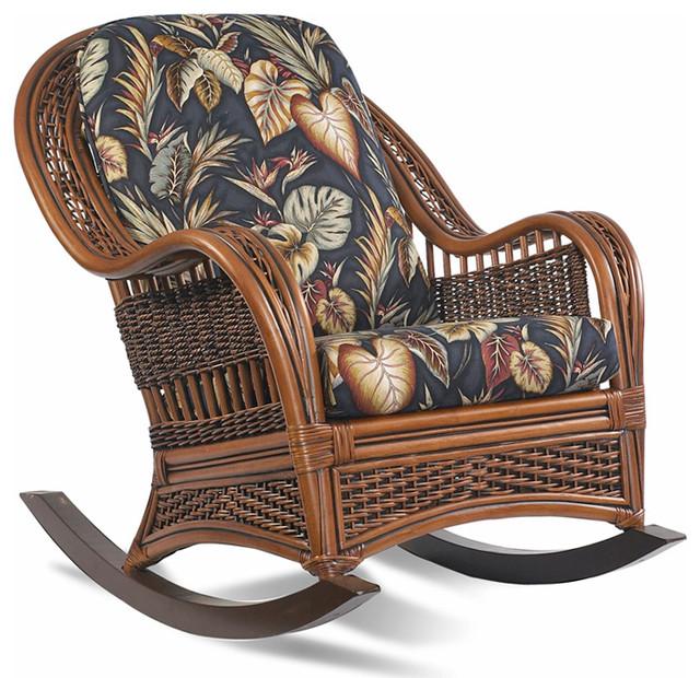 rattan rocker tigre bay tropical rocking chairs. Black Bedroom Furniture Sets. Home Design Ideas