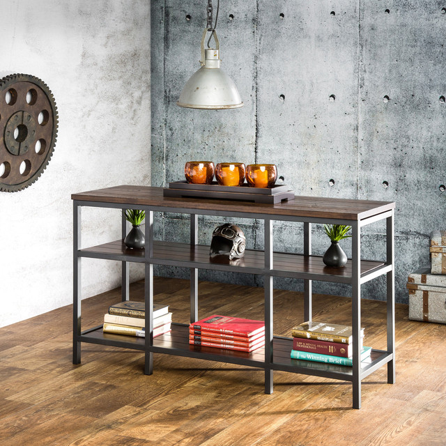 Furniture of america payton industrial tiered sofa table for Furniture of america sofa table