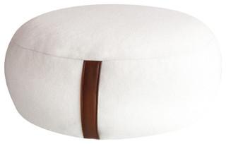 wool felt pouf white modern floor pillows and poufs