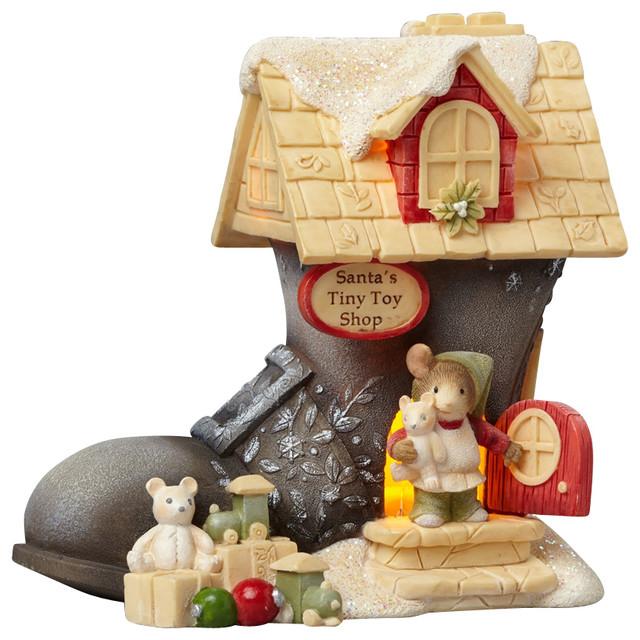Enesco Heart Of Christmas Santa Lighted Boot Mice traditional-holiday ...