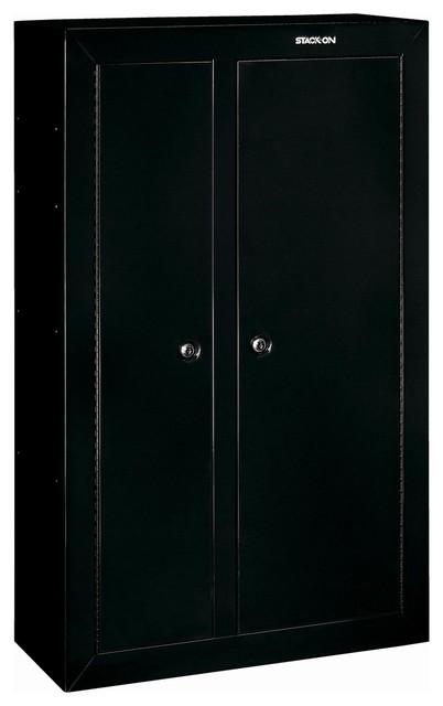 Gun Cabinet Double Door Steel Security Cabinet - 10-Gun - Contemporary - Storage And ...