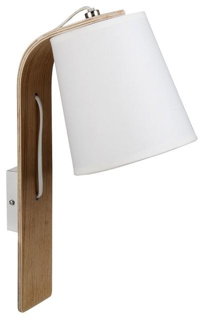 ellica applique murale bois blanc e14 contemporain applique murale par alin a mobilier d co. Black Bedroom Furniture Sets. Home Design Ideas