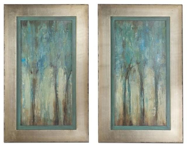www.essentialsinside whispering wind framed wall art, set of 2 contemporary
