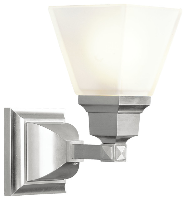 mission bath light brushed nickel bathroom wall lights by livex
