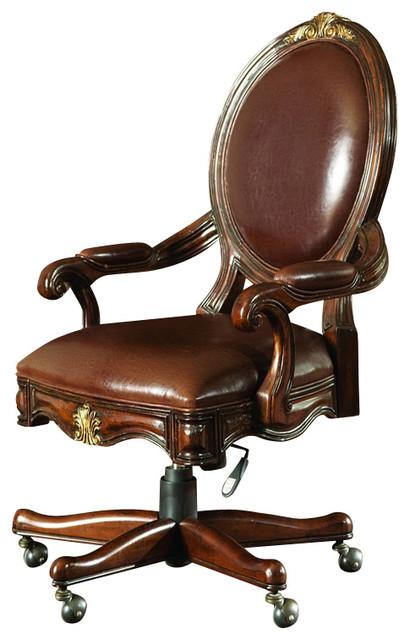Hooker Furniture Beladora Swivel Desk Chair Traditional Office Chairs