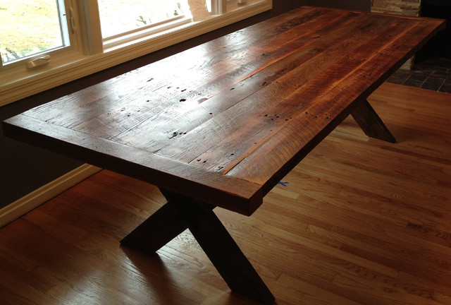 Reclaimed Wood Cross Table