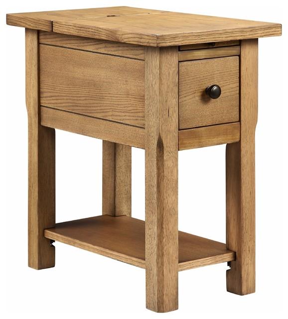 Stonebridge Usb Port Accent Table Farmhouse Coffee And