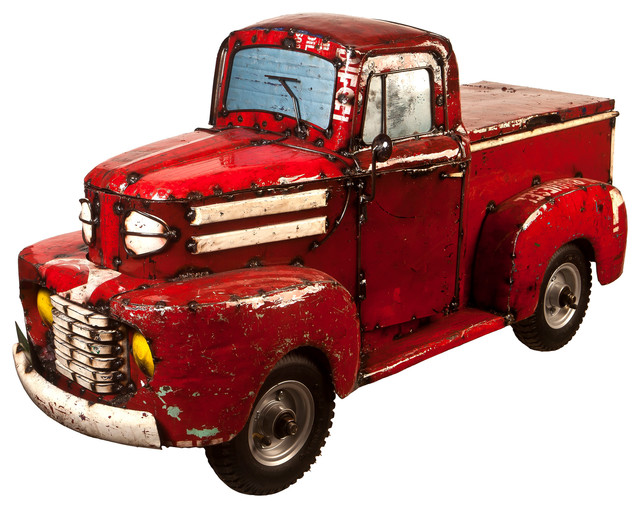 Think Outside Red Pick Up Truck Car Indoor Outdoor Cooler