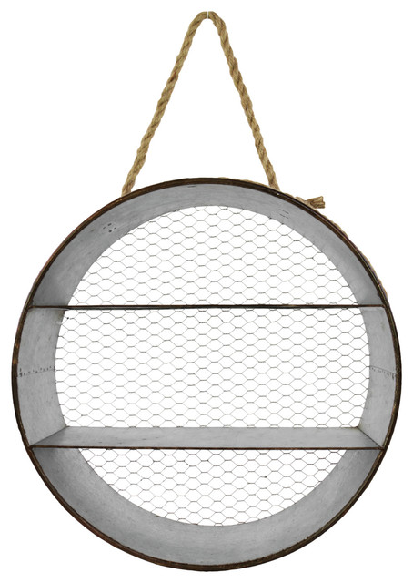 Round Metal Wall Shelf Industrial Display And Wall Shelves By Urban Trends Collection