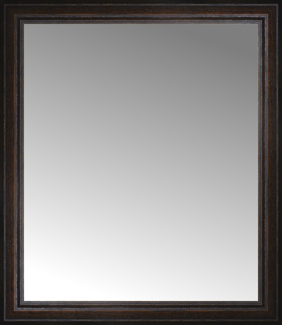 31u0026quot; Tuscany Embossed Custom Framed Mirror - Traditional - Wall Mirrors ...