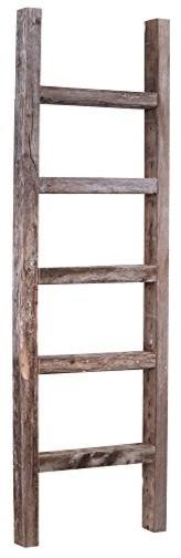 Rustic Wall Ladder Shelf :
