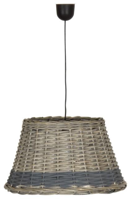 osier abat jour suspension non lectrifi e en osier landhausstil pendelleuchten von. Black Bedroom Furniture Sets. Home Design Ideas