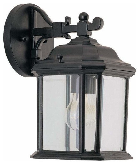 1-Light Wall Lantern Black - Traditional - Outdoor Lighting - by PLFixtures