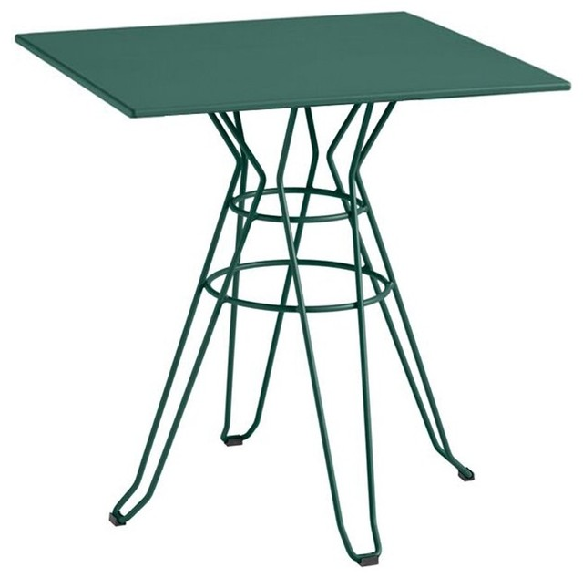 Table de jardin design carr e 90x90 alameda couleur vert for Table 90x90 design