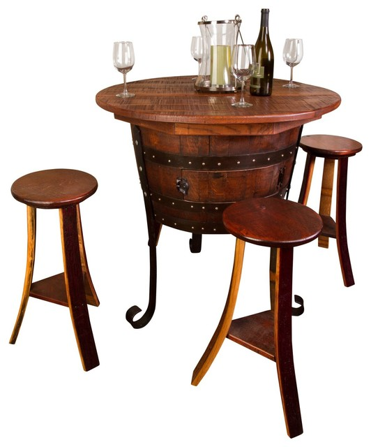 Old World Table With Cabinet Set Rustic Indoor Pub And  : rustic indoor pub and bistro sets from www.houzz.com size 532 x 640 jpeg 55kB