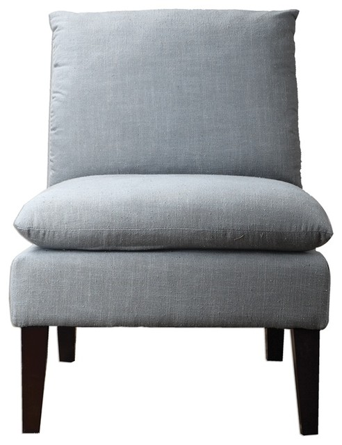 Jascha Armless Chair By Uttermost Transitional Armchairs And Accent Chair