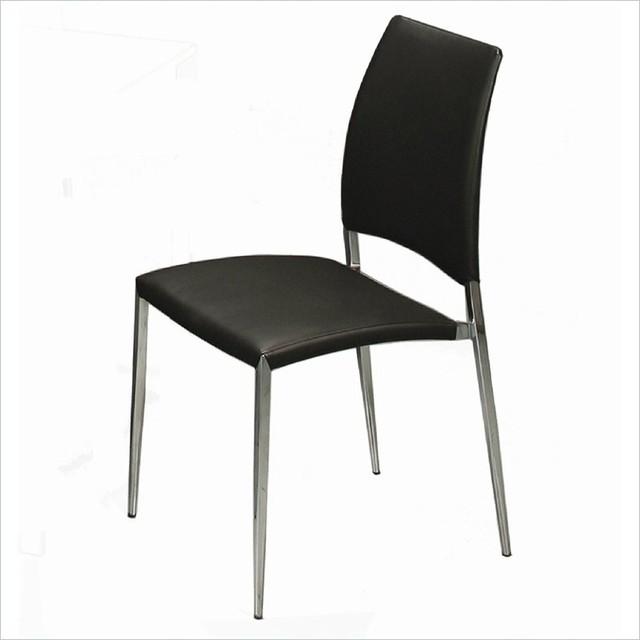 Pastel Ferguson Side Chair Chrome Pu Black