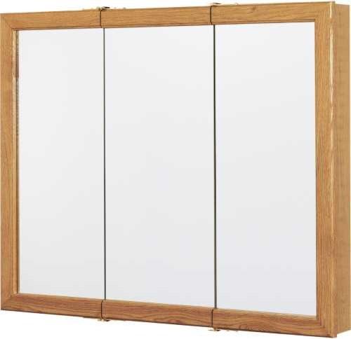 "Oak 36"" Triview Medicine Cabinet contemporary-medicine-cabinets"