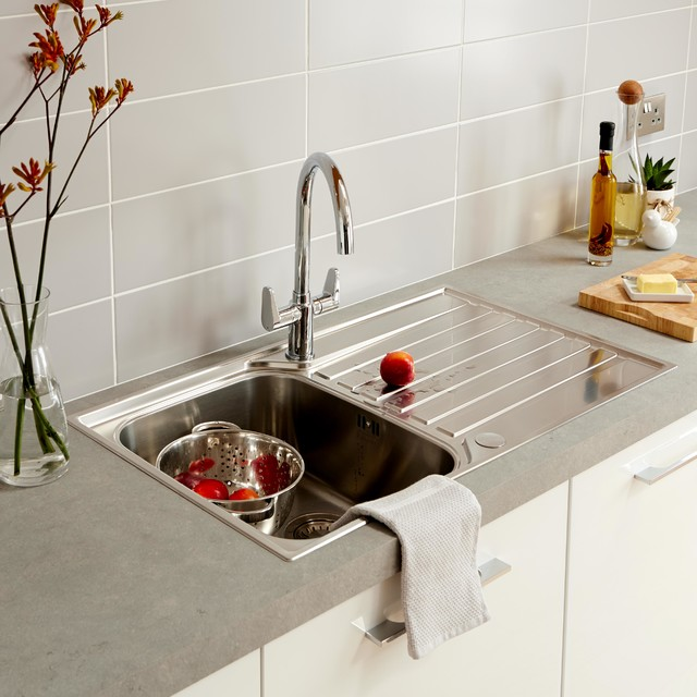 Franke Ascona 1 Bowl Stainless Steel Sink & Drainer - Contemporary ...