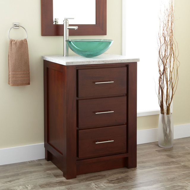 Bathroom Vanity With Vessel Sink : Mahogany Vessel Sink Vanity - Modern - Bathroom Vanity Units & Sink ...