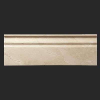 Crema marfil polished marble 5x12 base moulding - Contemporary trim moulding ...