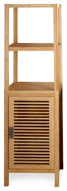 Nature colonne de salle de bains en bambou 1 porte 45cm for Colonne salle de bain en bambou