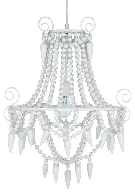 White Wooden Beaded Chandelier Rustic Chandeliers By The French Bedroom Company