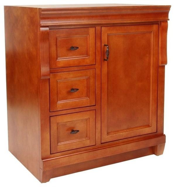 Naples vanity cabinet only warm cinnamon 30 39 39 for Bathroom cabinets naples fl