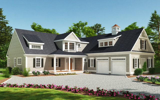 Dennis custom cape traditional exterior boston by for Modified cape cod house plans