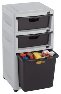 Suncast 3 Drawer Utility Tower - Modern - Storage Cabinets - by ...