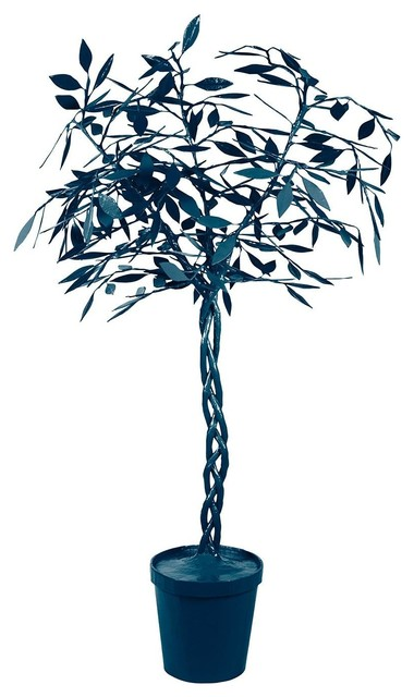 How To String Lights On A Ficus Tree : Stray Dog Designs Ficus Tree-Down Pour Blue - Traditional - Ceiling Lighting - by Candelabra
