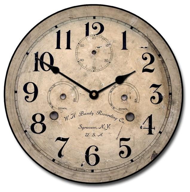Bundy Vintage Wall Clock 12 Quot Wall Clocks By Clocks Around The World
