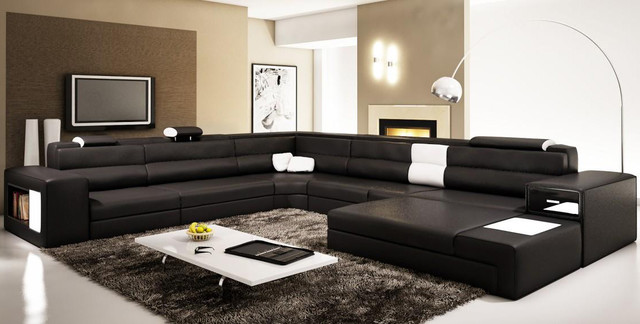 Leather Sectional Sofas Contemporary Sectional Sofas