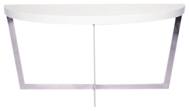 Kendall demilune console white contemporary console tables White demilune console table