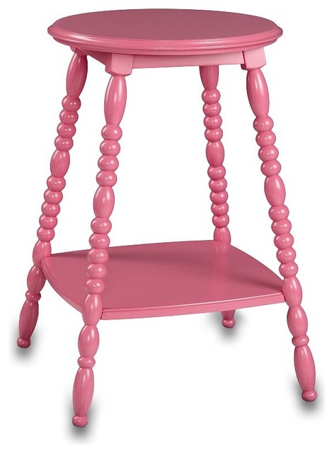 Pink Bedside Table: Petite Bedside Table, Bright Pink