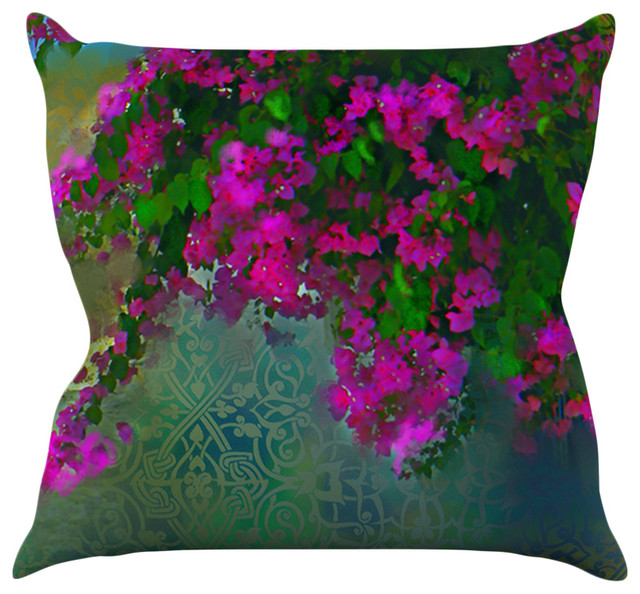 Purple Green Throw Pillow : S. Seema Z