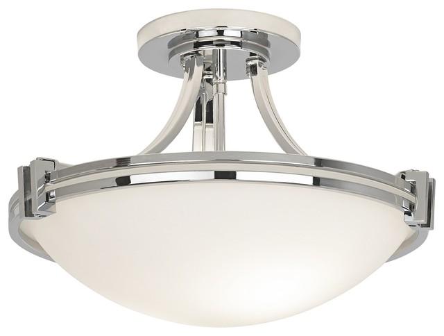 Possini Euro Design Chrome 16 Quot Wide Ceiling Light Fixture