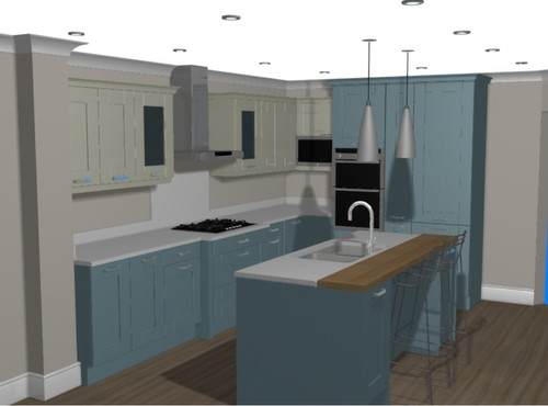 What colour cabinets go with wooden worktops don 39 t say cream for What colours go with cream