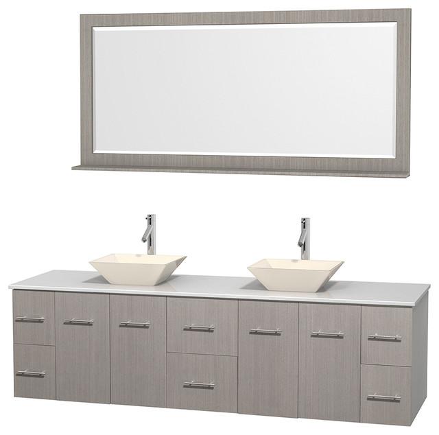 Porcelain Sinks Bathroom Vanities : ... Porcelain Sinks, Mirror - Contemporary - Bathroom Vanities And Sink