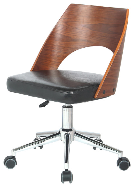 dustin office chair black and walnut modern office chairs by