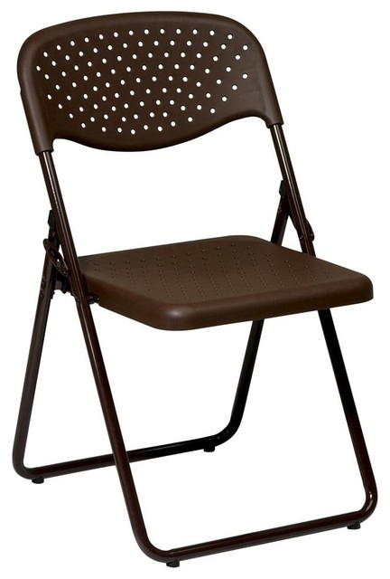 Plastic Folding Chair in Mocha Set of 4 Contemporary Folding Chairs And