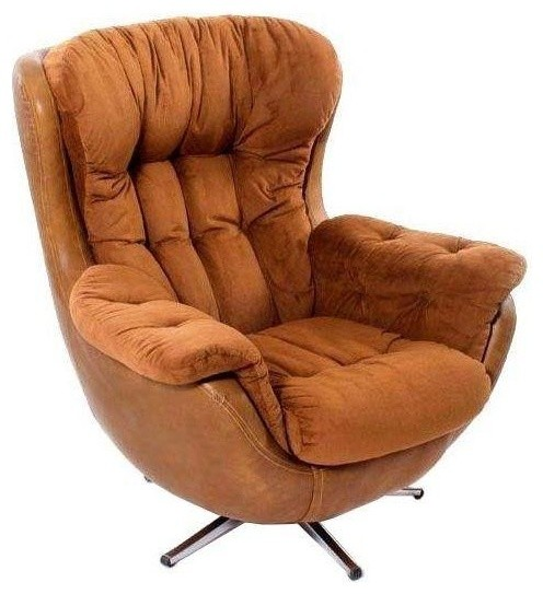 1970 39 S Overstuffed Egg Chair Modern Living Room Chairs