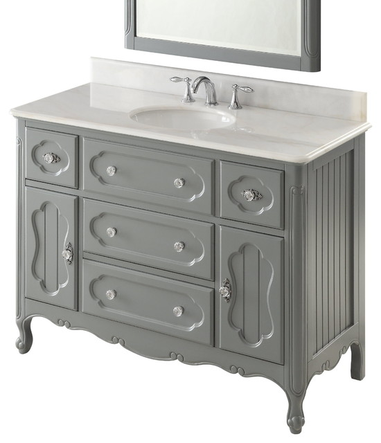 48 victorian cottage style white knoxville bathroom sink - White cottage style bathroom vanities ...